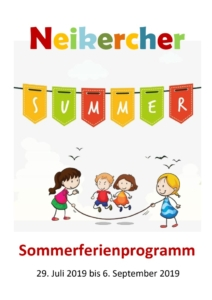 thumbnail of Neikercher Summer – Programmheft 2019
